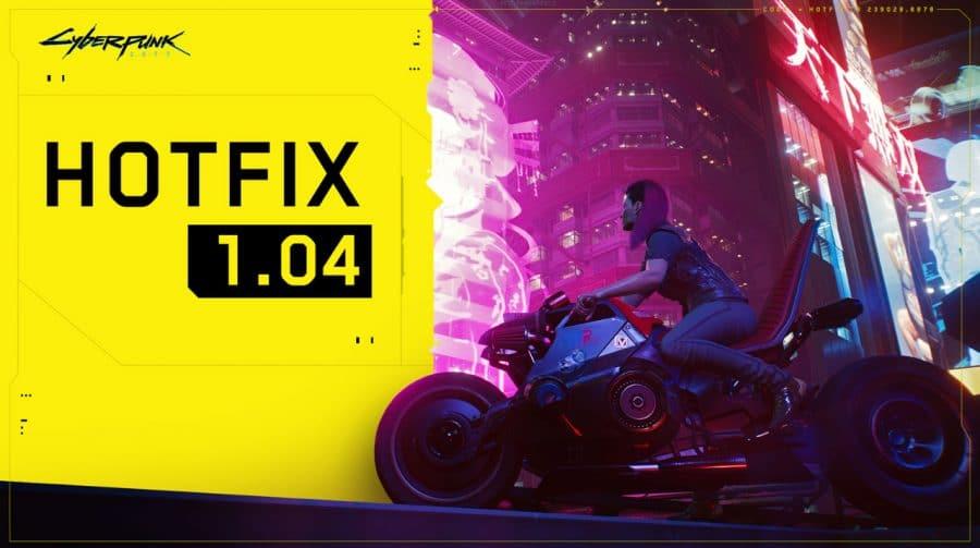 Cyberpunk 2077: novo update está disponível e promete consertar bugs
