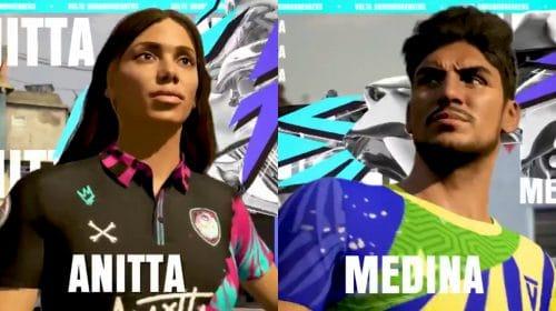 Anitta e Gabriel Medina chegam ao modo VOLTA de FIFA 21