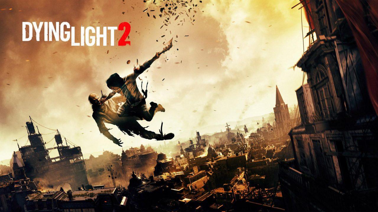 Imagem da matéria sobre eventos de games com o jogo Dying Light 2 com um personagem batendo em um zumbi no ar
