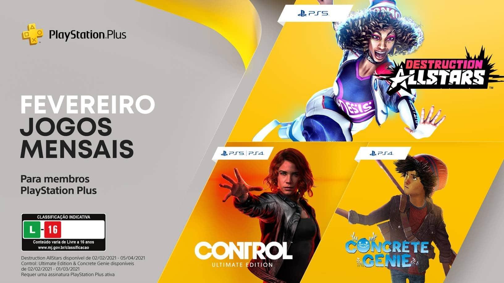 Jogos do PS Plus de fevereiro já estão disponíveis para download