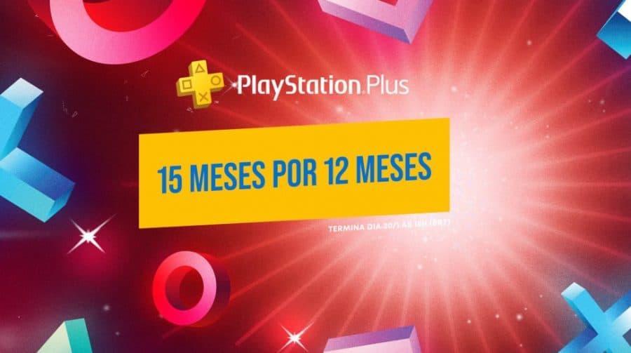 Sony oferece assinatura PS Plus de 15 meses pelo preço de 12 meses