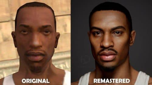 CJ em Full HD: Protagonistas de GTA são remasterizados por artista 3D