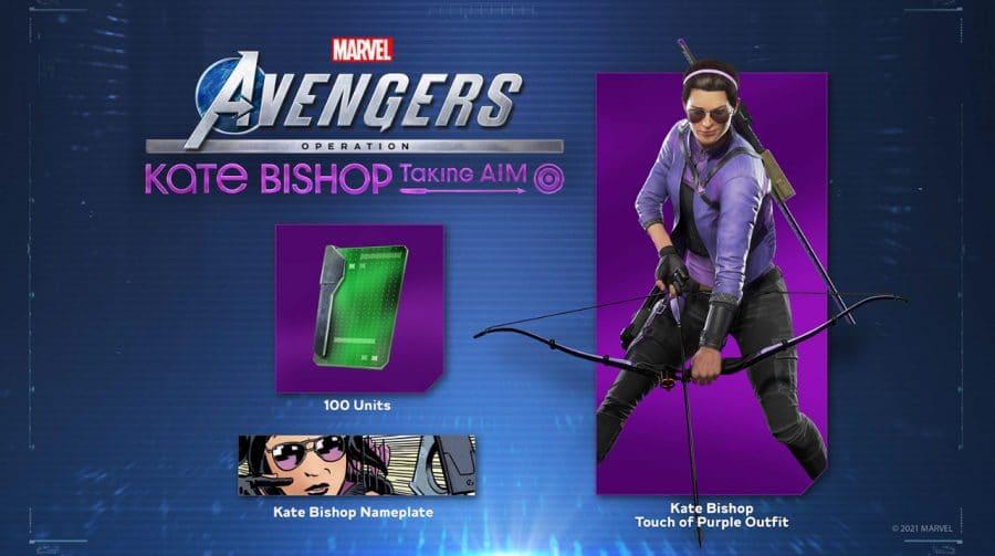 Marvel's Avengers: membros PS Plus podem resgatar traje para Gaviã Arqueira