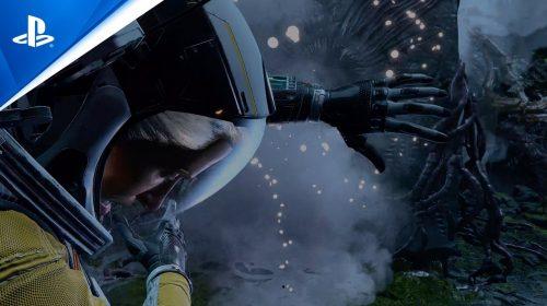 Sony mostra primeiro gameplay dublado de Returnal no PS5