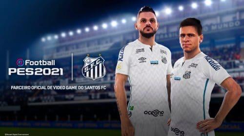 Agora quem dá bola é o Santos: Konami é a nova patrocinadora do Peixe