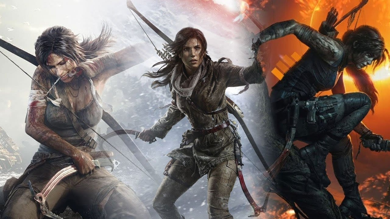 Lara Croft da nova trilogia de Tomb Raider, desenvolvido pela Crystal Dynamics