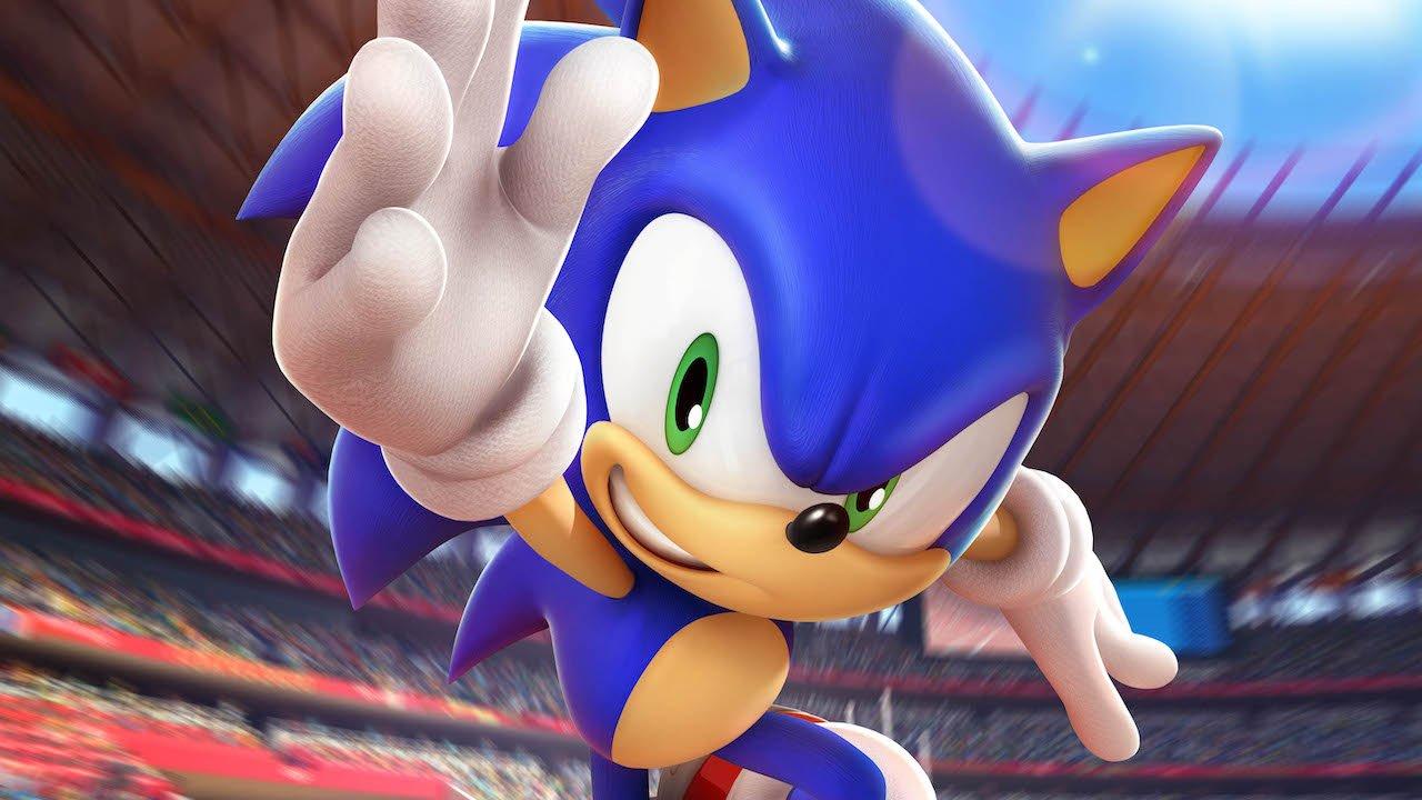Imagem da matéria sobre eventos de games com o Sonic com a braço levantado