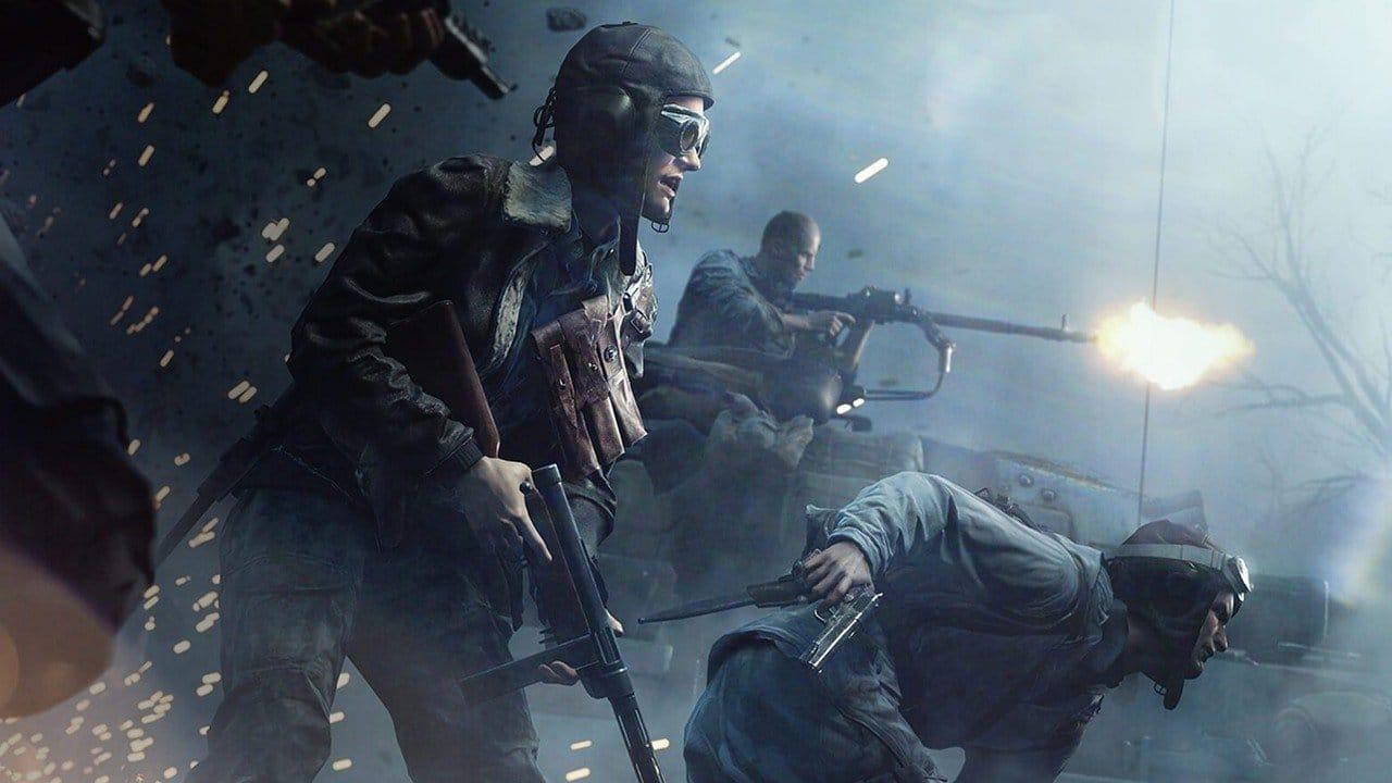 Suposto Battlefield 2042, com diversos soldados em campo de batalha.