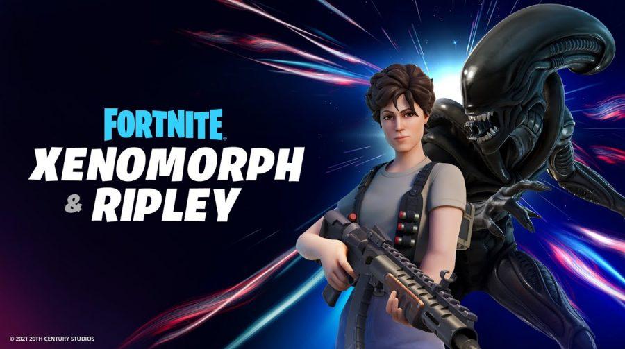 Epic Games revela skins de Ripley e Xenomorfo em Fortnite