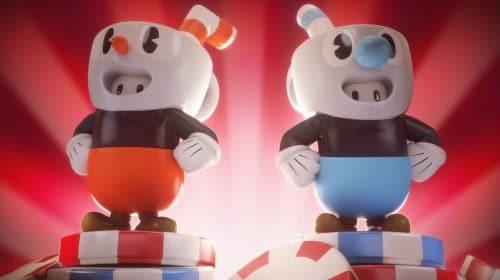 Fall Guys anuncia crossover com skins de Cuphead