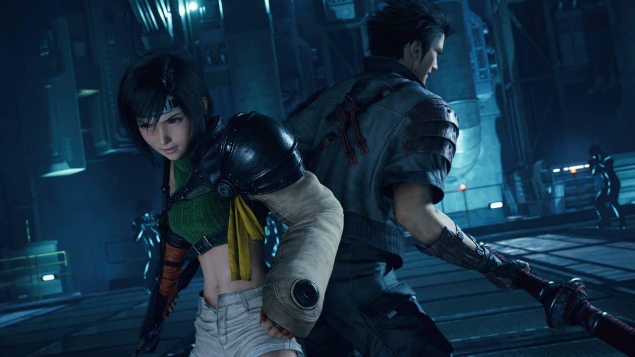 Yuffie e Kusakabe em Final Fantasy VII Remake Intergrade