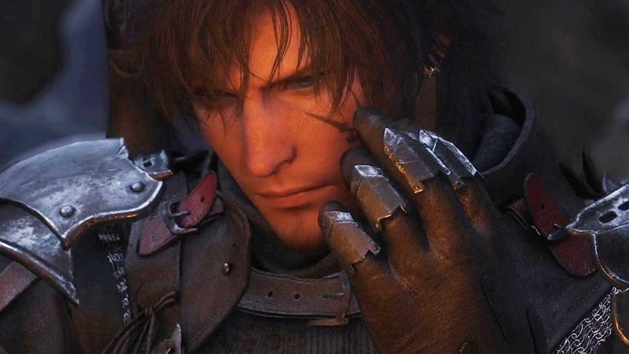 Protagonista de Final Fantasy XVI com a mão no rosto.