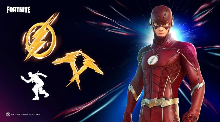 É oficial: skin do Flash chegará ao Fortnite no próximo sábado (13)