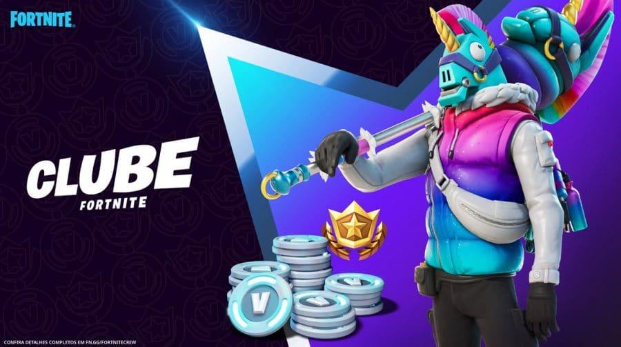 Epic Games anuncia Lhamano, skin do Clube Fortnite de março