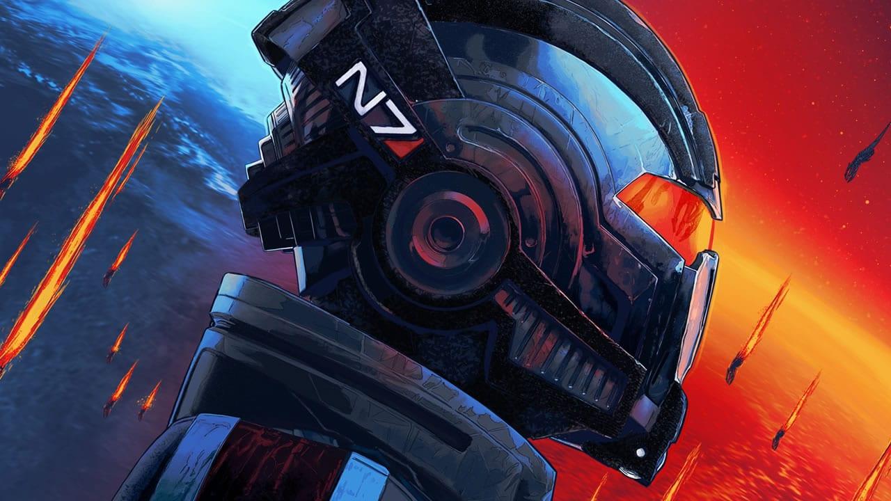 Imagem de capa de um personagem com um capacete em Mass Effect Legendary Edition