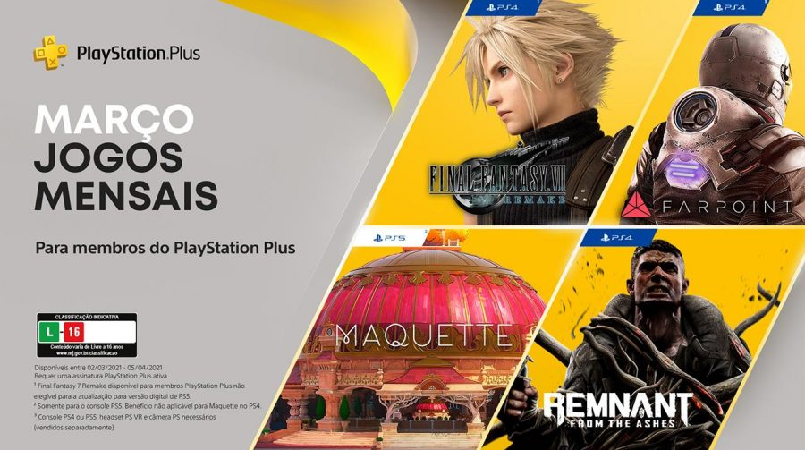 Games do PS Plus de março já estão disponíveis para download