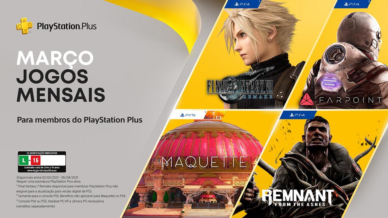 PlayStation Plus de março (PS Plus de março) conta com quatro jogos diferentes.