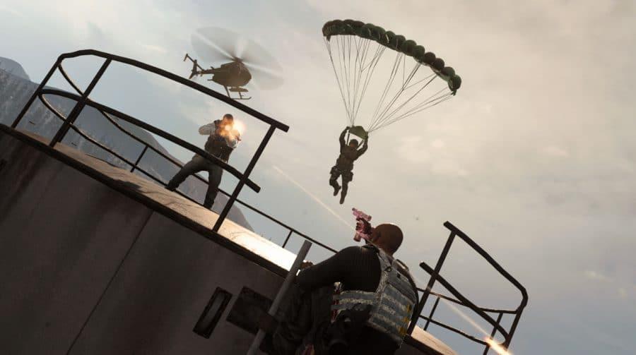 Como lidar com um camper em Warzone: use um paraquedas