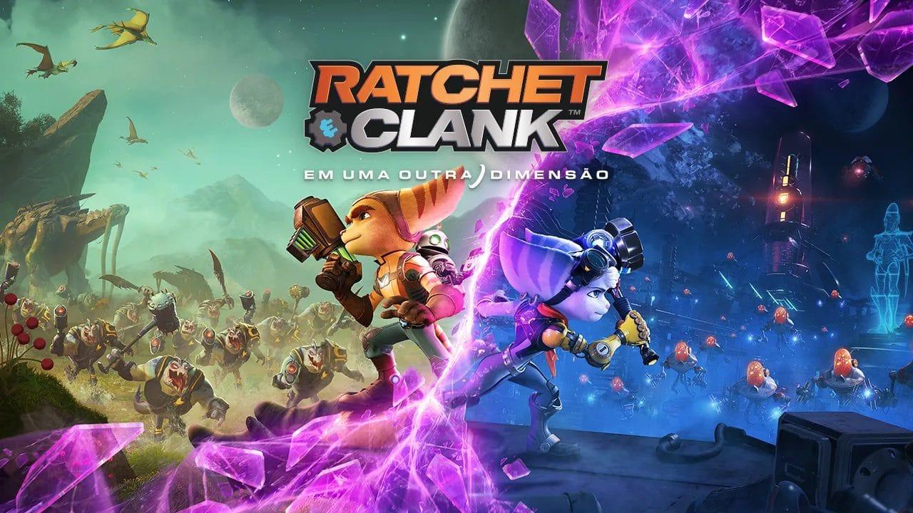Capa oficial de Ratchet & Clank: Em Uma Outra Dimensão.
