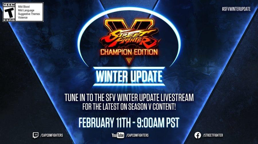 Capcom fará transmissão especial de Street Fighter V em 11 de fevereiro