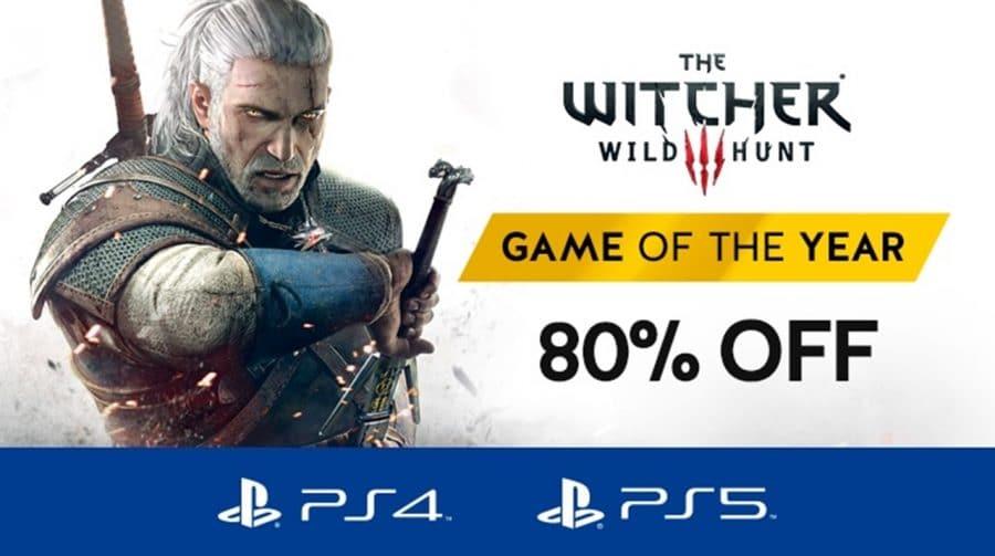 Versão completa de The Witcher 3 está com 80% de desconto na PSN
