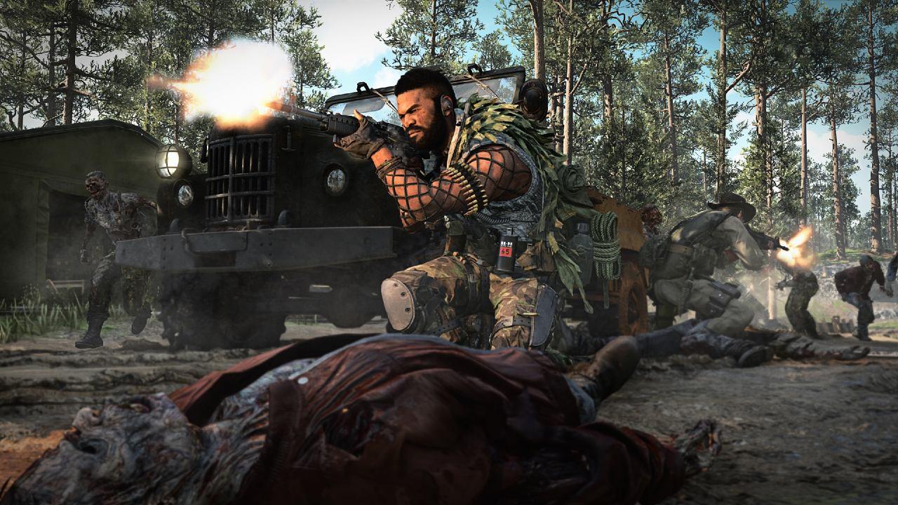 Soldados em combate na selva em Call of Duty: Warzone.