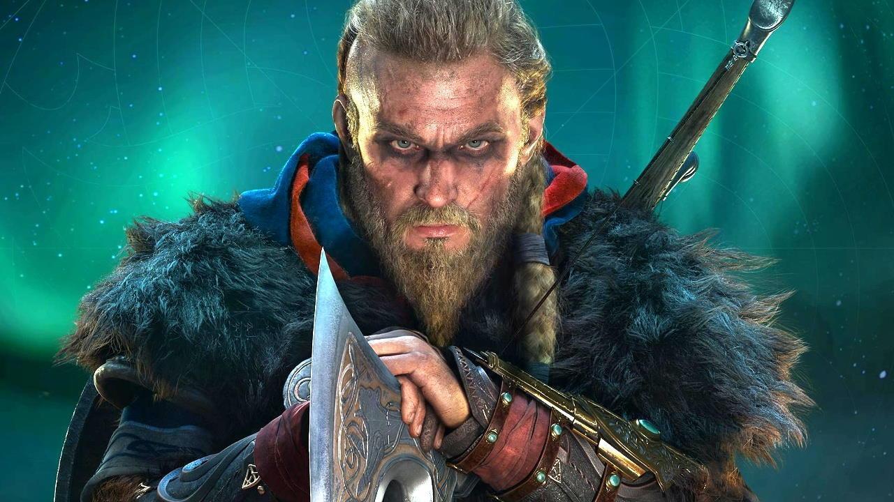 Imagem de capa da matéria sobre a EA Motive com o protagonista Eivor do jogo Assassin's Creed Valhalla