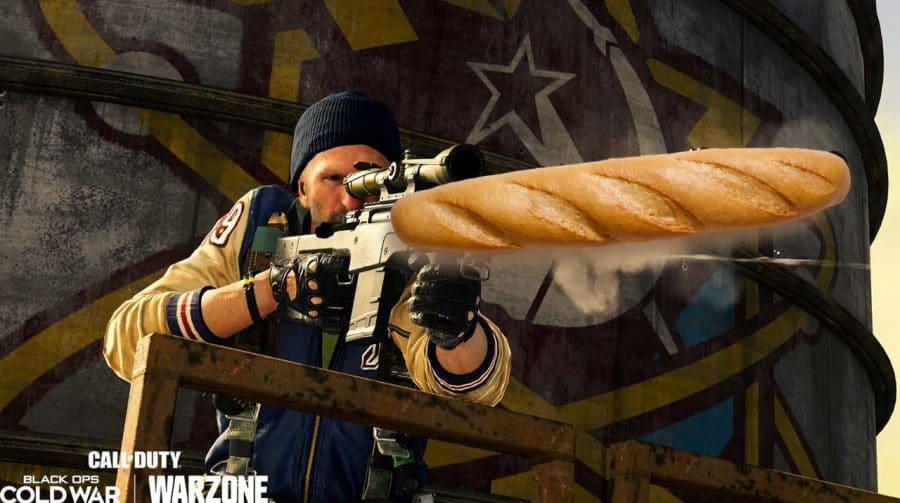 Streamer usa baguete para jogar Warzone e consegue derrotar inimigo