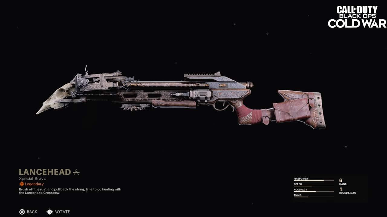Skin Lancehead da crossbow Shadowhunter em Call of Duty Warzone.