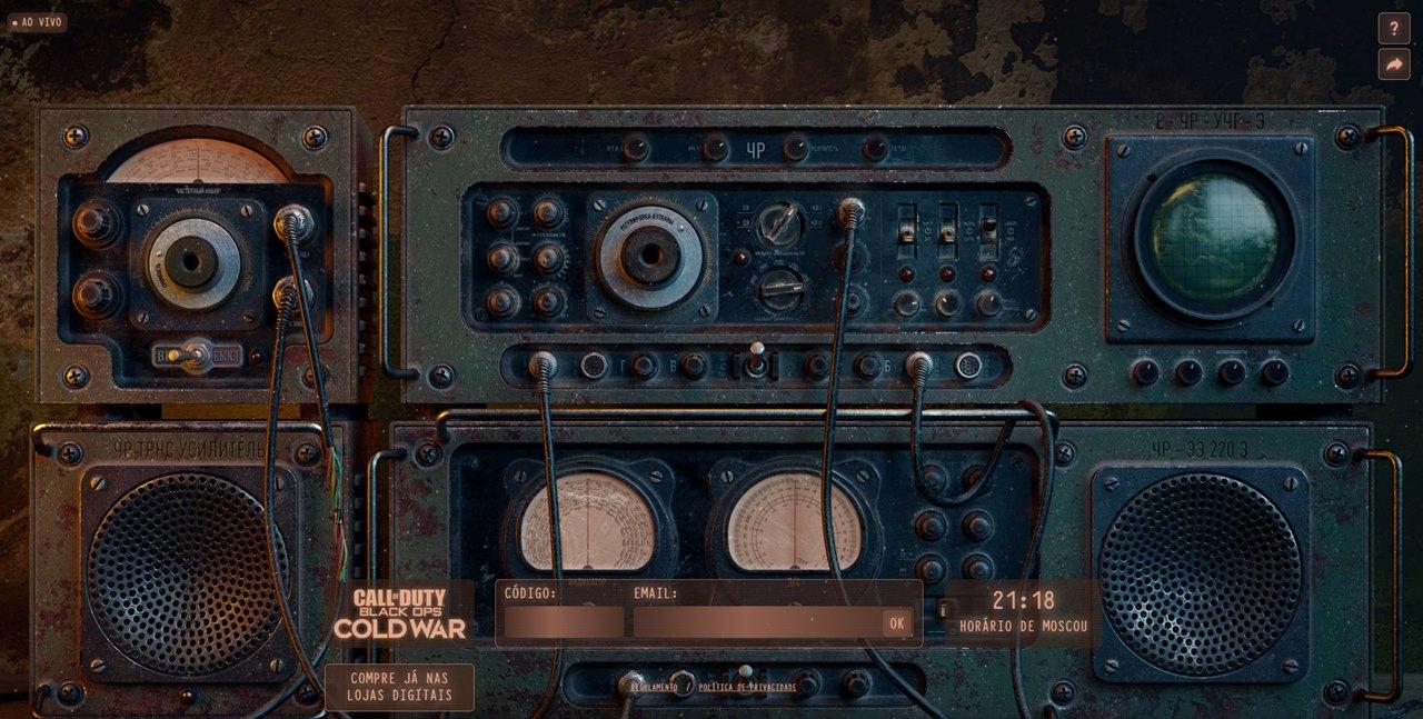 Painel da Rádio Fantasma, ação promocional de Call of Duty.