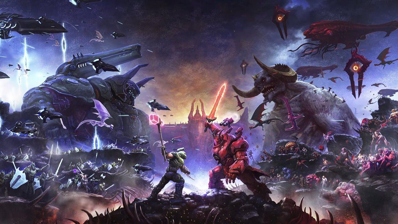 Capa da expansão Ancient Gods de Doom Eternal