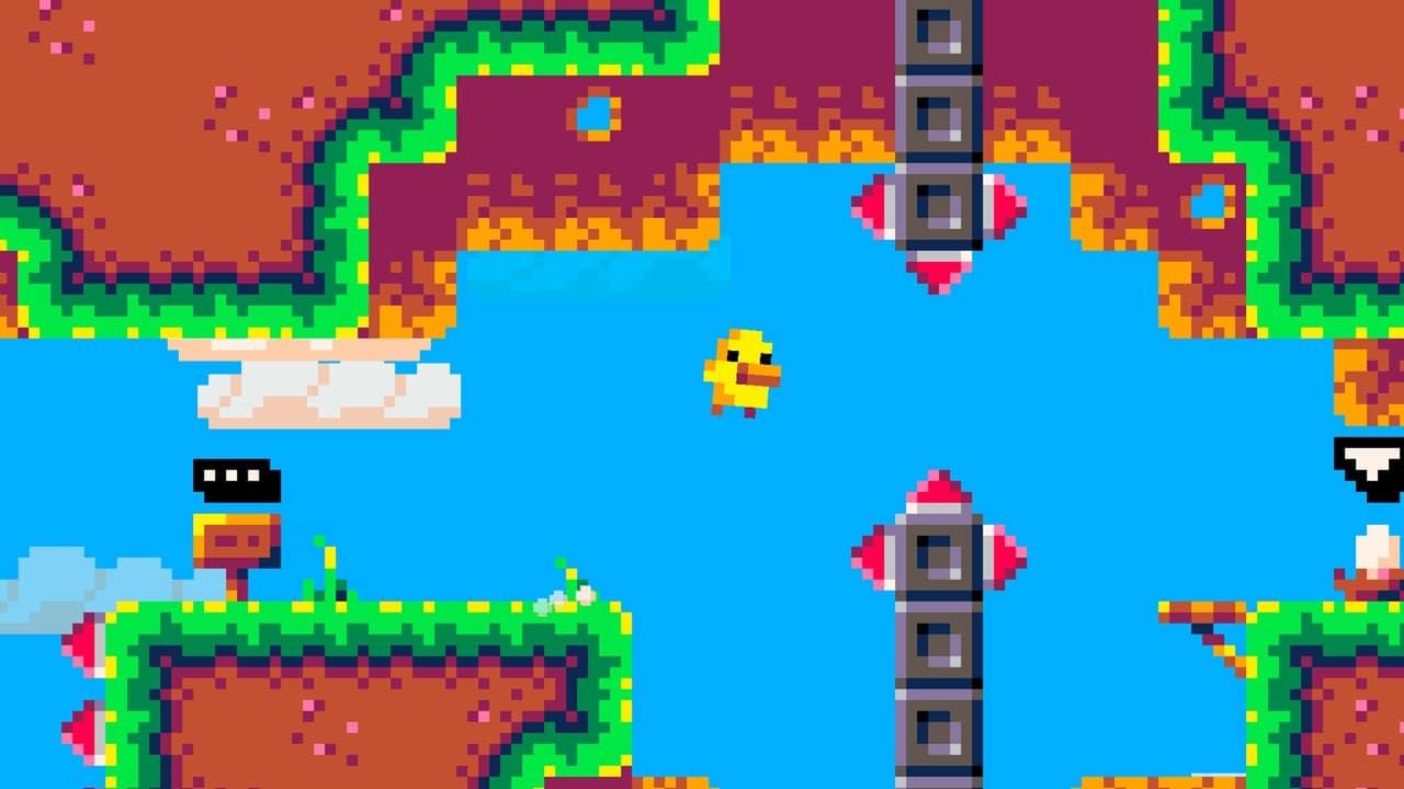 Fase colorida em Duck Souls+.