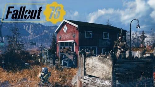 Fallout 76 terá update em abril com foco no acampamento e no special loadouts