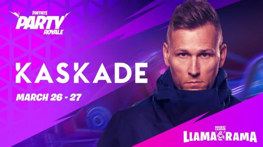 Fortnite terá show com DJ Kaskade para celebrar crossover com Rocket League