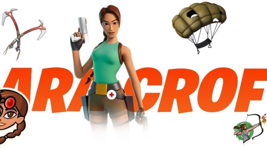 Lara Croft em Fortnite é realidade: skins estão no novo Passe de Batalha