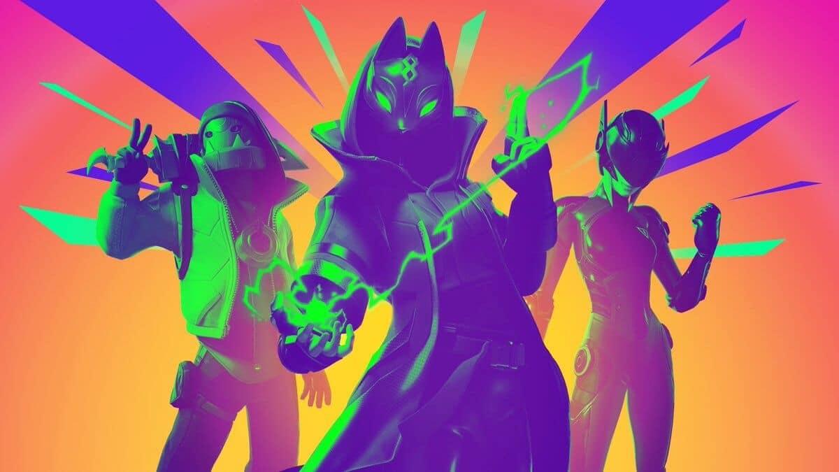 Skins coloridas de Fortnite.