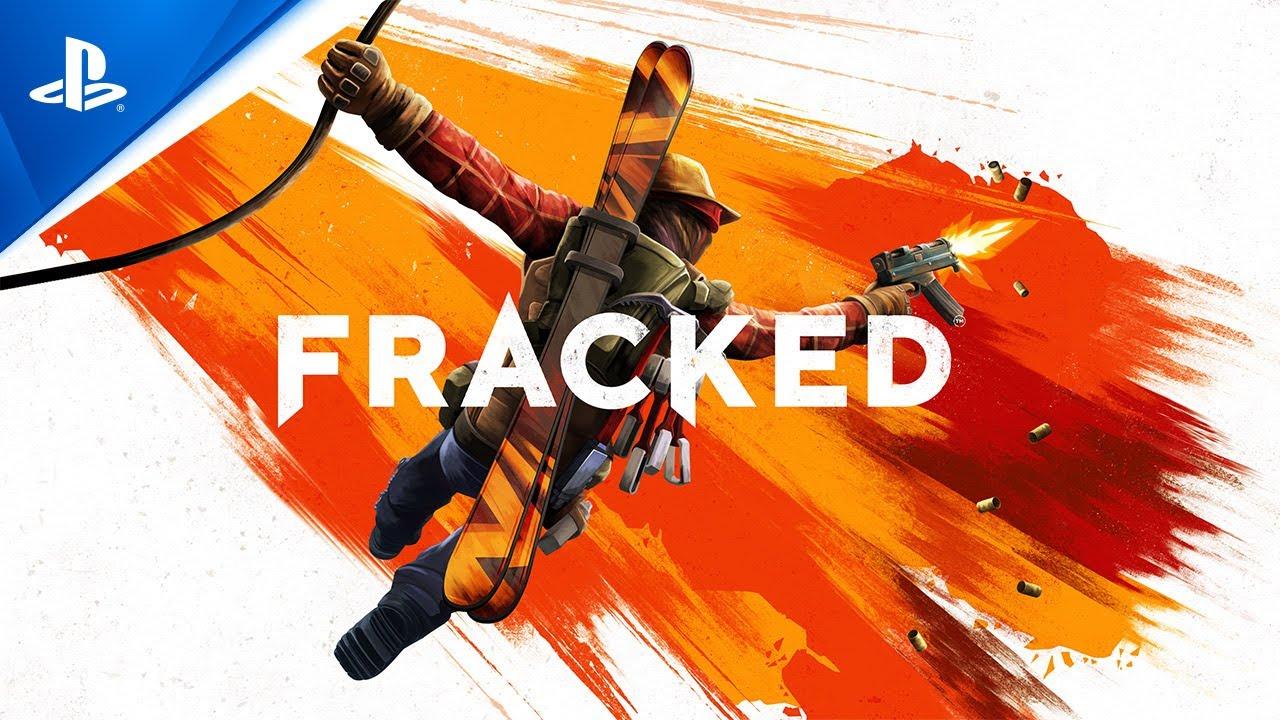 Imagem de capa sobre o anúncio de Fracked para PS VR com a logo do game um personagem ilustrando a foto