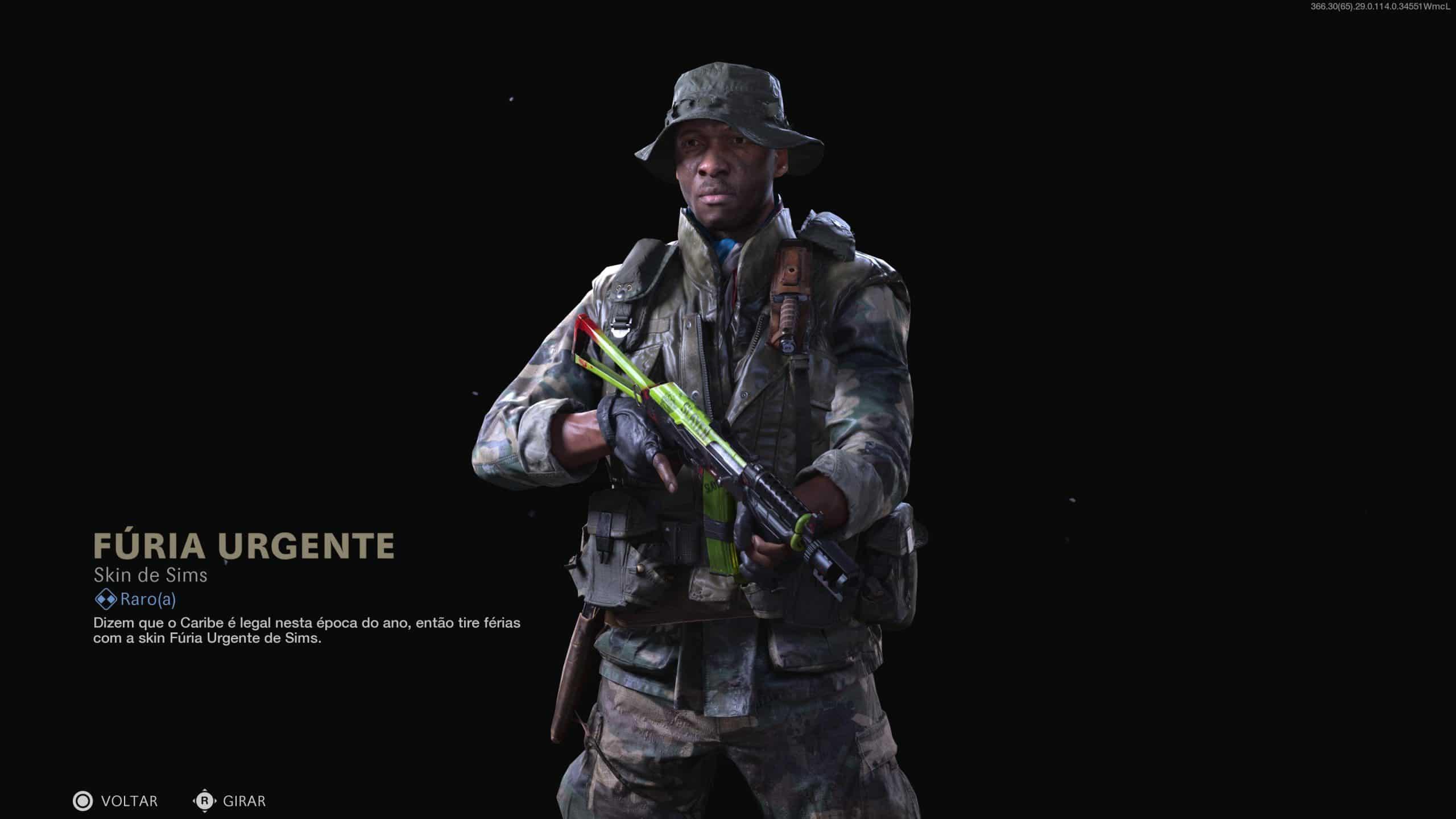 Operador Sims em destaque de nova skin do Passe de Batalha de Warzone