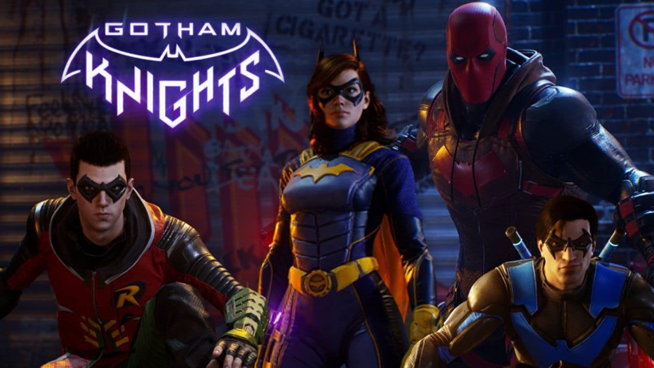 Imagem com os heróis do jogo Gotham Knights