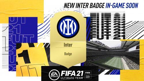 Novo escudo da Inter de Milão chegará em breve ao FIFA 21