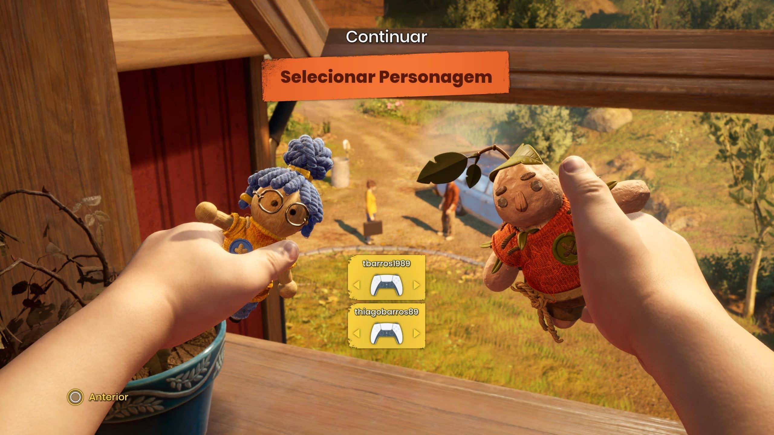 It Takes Two permite escolher entre dois personagens (Foto: Reprodução/Thiago Barros)