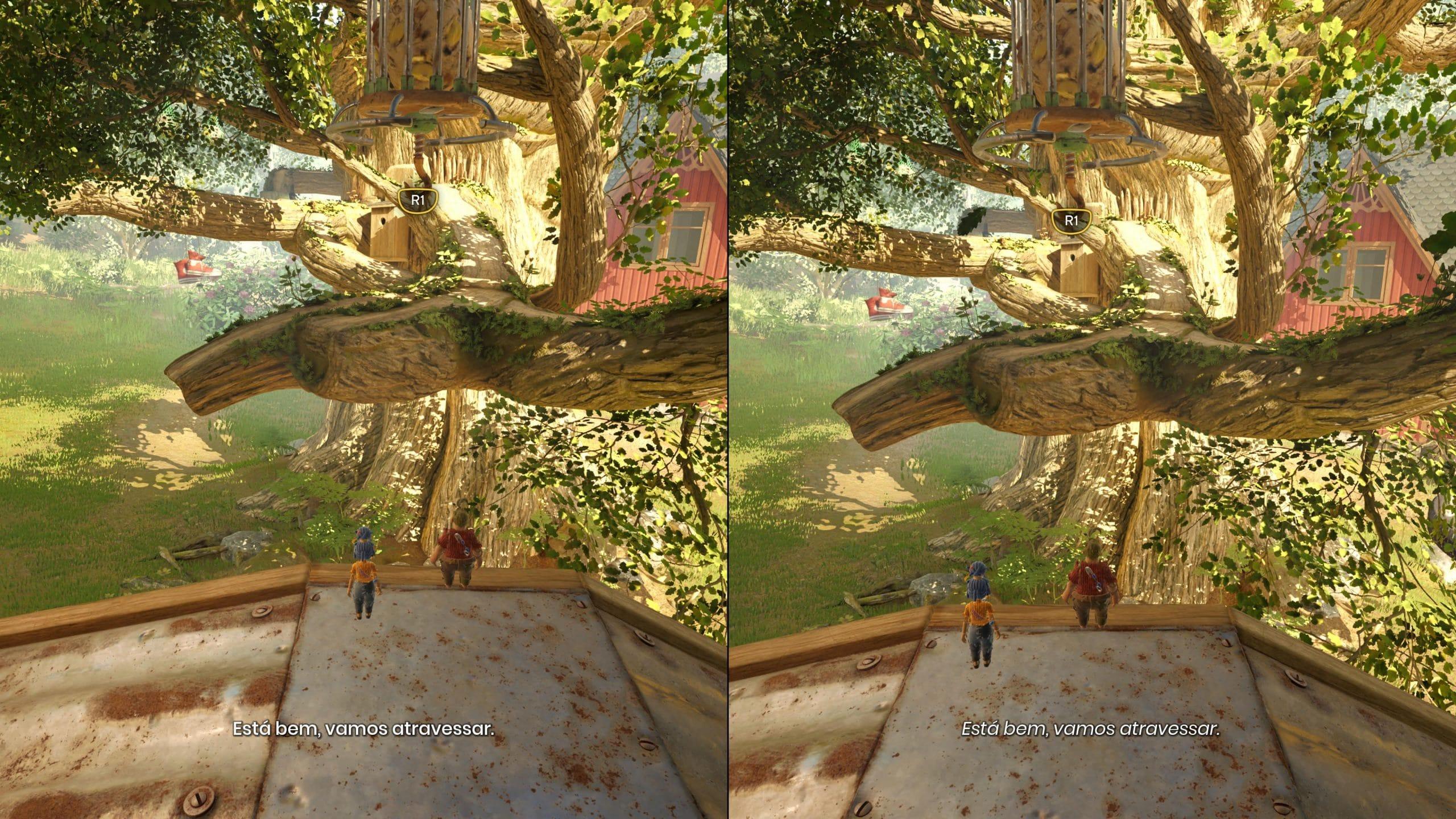 Coop com tela dividida de It Takes Two é super divertido (Foto: Reprodução/Thiago Barros)