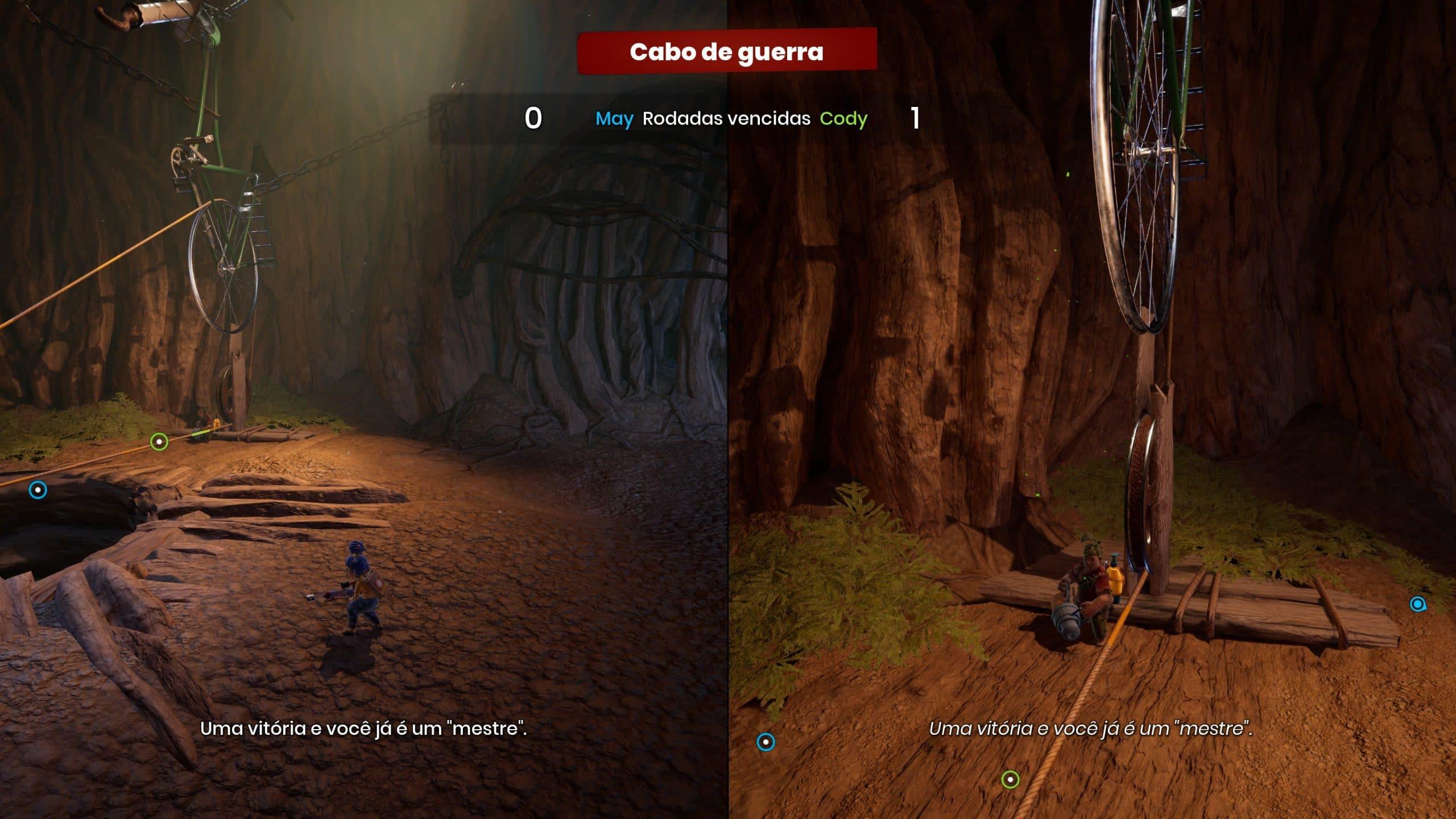 It Takes Two também tem minigames Cody x May (Foto: Reprodução/Thiago Barros)
