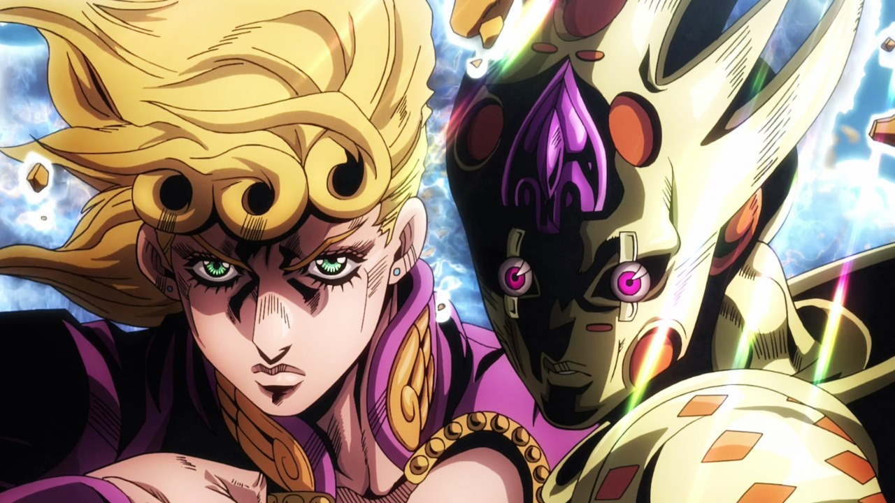 Giorno Giovanna e Golden Experience Requiem em Jump Force.