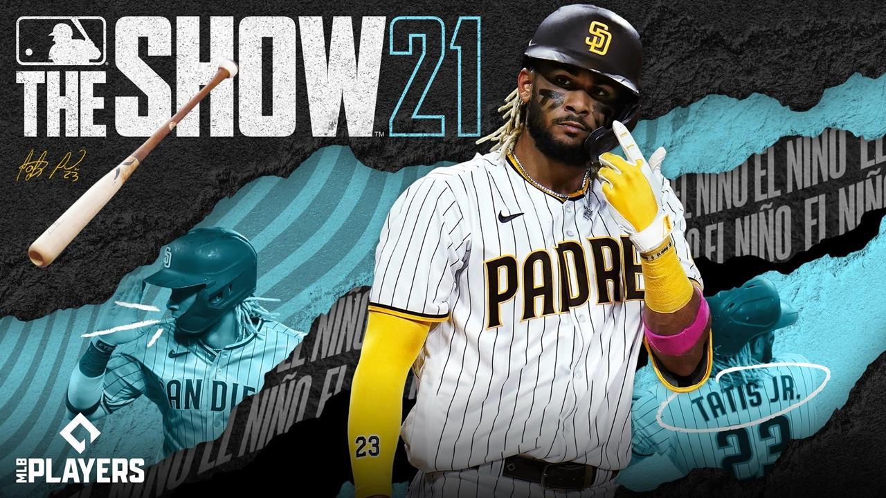 Jogador Fernando Tatis Jr em capa promocional de MLB The Show 21.