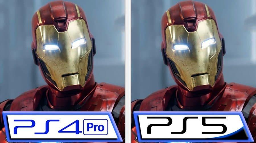 Marvel's Avengers no PS5 tem loading drasticamente reduzido; veja comparação com PS4 Pro