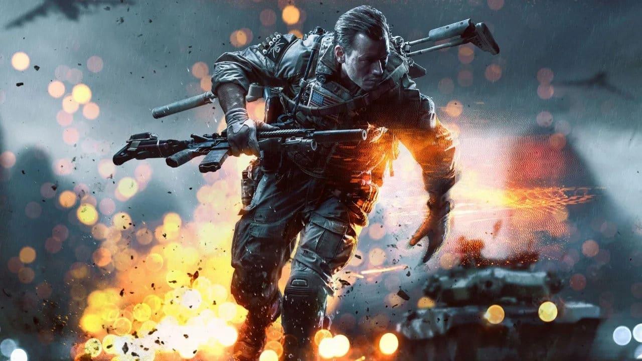 Imagem de capa sobre o novo Battlefield, com a imagem de um solado no game anterior da franquia