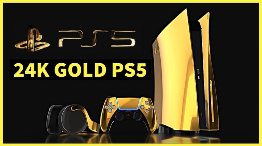 Lembra do PS5 de ouro 24K? Youtuber paga R$ 64 mil por uma unidade