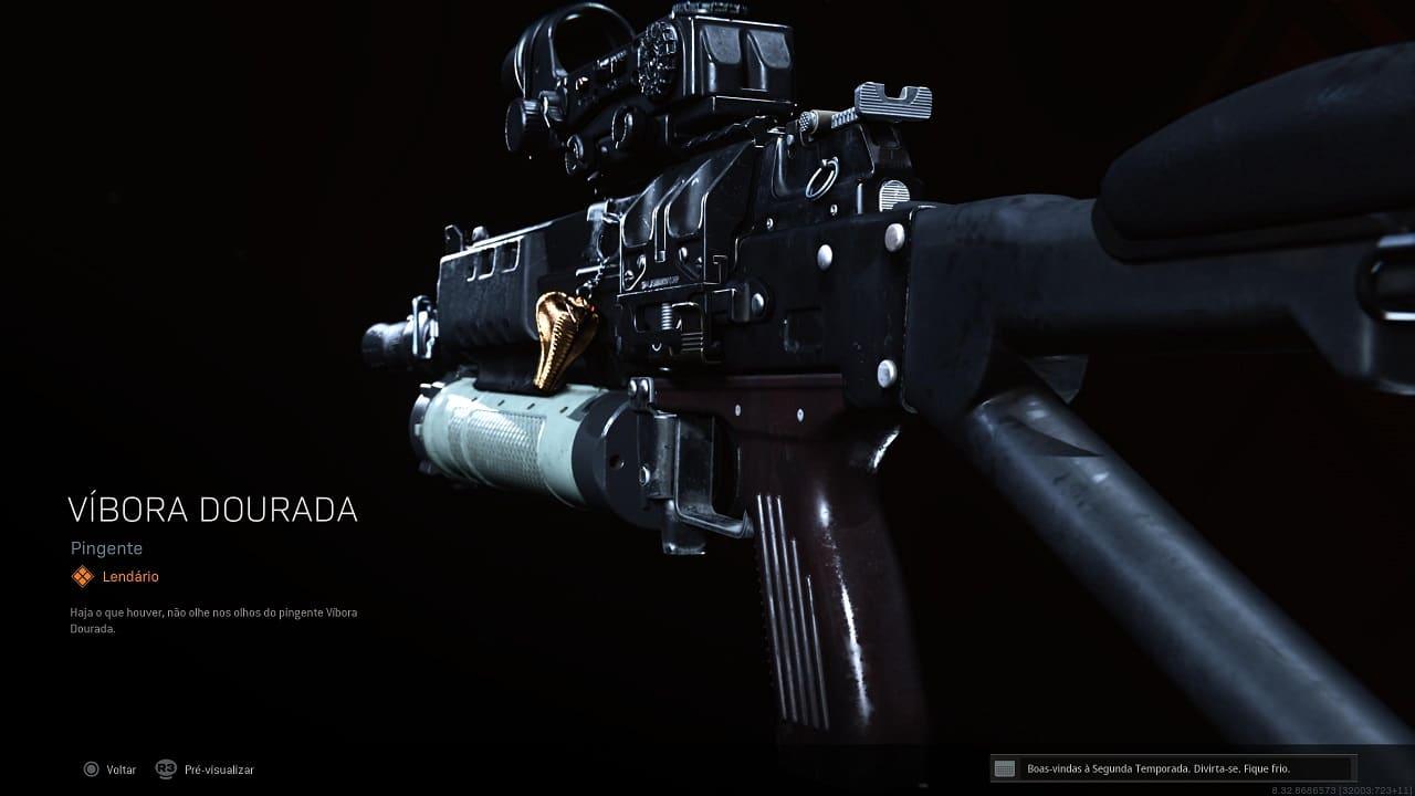 Pingente Itens variados - Passe de Batalha - Call of Duty Warzone Cold War