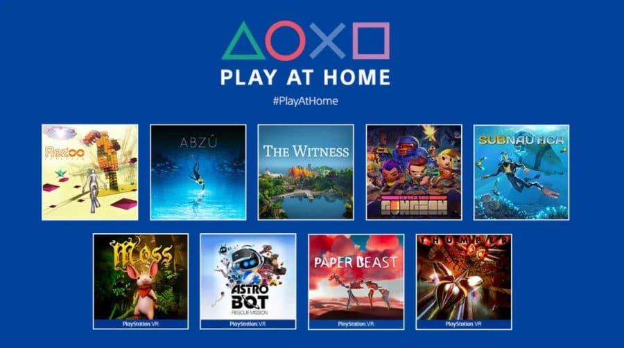Play At Home: 9 jogos gratuitos já estão disponíveis na PS Store